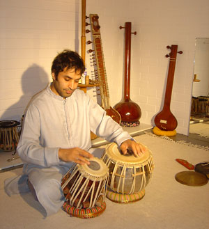 Bobby Singh playing Tabla